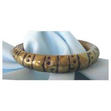 Hand Hammered Vintage Brass Chunky Bangle Bracelet