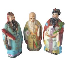Vintage Chinese Three Lucky Gods Large Plastic Banks