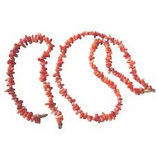 Lovely Branch Coral Necklace and Bracelet Set