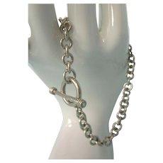 Vintage Sterling Silver Toggle Link Bracelet