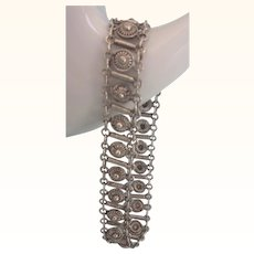 Lovely Vintage Sterling Etruscan Design Bracelet
