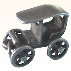 Vintage Sterling Model T Car 3-D Charm, Mechanical