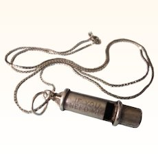 Beau Sterling 'If You Need Me' Whistle 3-D Pendant Necklace or Charm