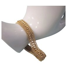 "Gorgeous Italian 14K Slinky 7-1/4"" Yellow Gold Bracelet, 12.2 Grams"