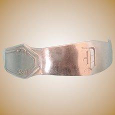 Vintage Sterling Napkin Ring, Monogram D