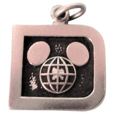 Vintage Sterling Disney Mickey Mouse Logo Charm