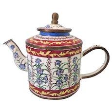 Kelvin Chen Porcelain and Enamel Miniature Teapot - Floral 1999