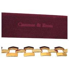 Stunning JBK Camrose & Kross Pyramid Design Goldtone Bracelet With Adjustable Link