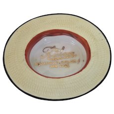 Vintage Straw Hat Advertising - New York City Merchant - Ashtray or Change Dish