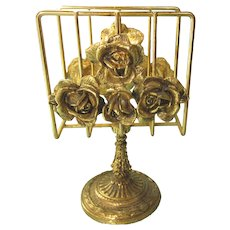 Vintage Stylebuilt Ornate Floral Towel Napkin Letter Holder