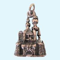 Vintage Signed Disneyland Sterling Cinderella's Castle 3-D Charm