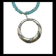 BORA-BORA- Silver Pendant & Apatite