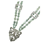 ANIS - Silver & Green Kyanite Necklace