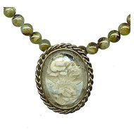 Vintage French Reverse Carved Lucite Necklace