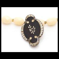 """Vintage Enamel Brooch Necklace """"Victoria"""""""