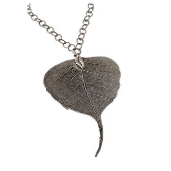 FEUILLE D'ARGENT - Silver Plated Leaf Necklace