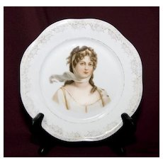 Bavarian Porcelain Plate - Queen Louise of Prussia