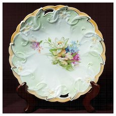 R S Prussia Cake Plate - Beautiful Mold - Unmarked