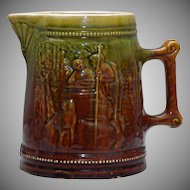 Denver China & Pottery Co. Pitcher - Brown and Green Glaze in High Relief 1901-1905
