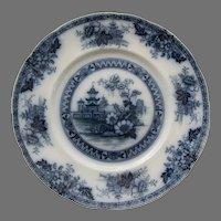 Yeddow Flow Blue Dinner Plate by Royal Staffordshire Pottery - Burslem, England