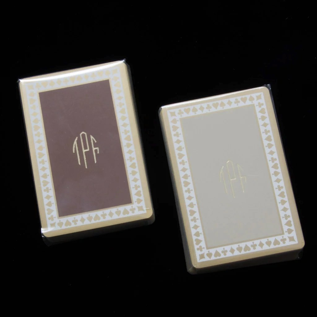 vintage tiffany playing cards in double box