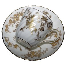 Minton Ancestral Demitasse Cup and Saucer - 1920 -1951 - Hairline