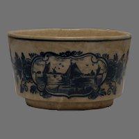 Delfts Blauw Hand Painted Cobalt Blue Pottery Bowl