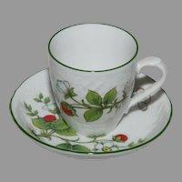 Vintage Schumann of Bavaria - Wild Strawberry Demitasse Tea Cup and Saucer