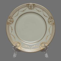 Hand Painted Hutschenreuther Gold Encrusted Dinner Plate - Dresden