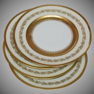 Four Limoges Raynaud Ceralene Imperial Dinner Plates