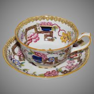 Chinoiserie Tea Cup and Saucer by Hammersley Pattern 10072