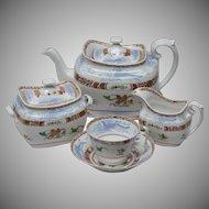 Early Spode Chinoiserie Tea Set Circa 1815