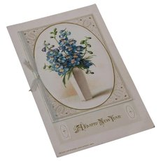 Happy New Year Postcard with Booklet