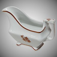 Ironstone Copper Lustre Tea Leaf Gravy Boat
