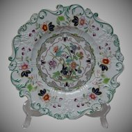 Old Hall Ironstone Plate - Very Unusual
