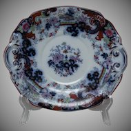 Ridgway Flow Blue Biscuit or Cake Plate - Corey Hill