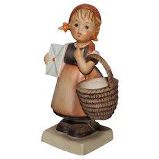 Vintage Hummel 'Mediation' - Girl with Basket and Letter #13 TMK-3 - Red Tag Sale Item