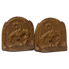 End Of Trail Vintage Bookends