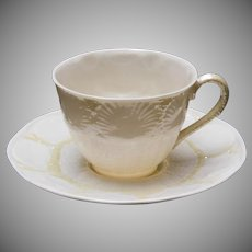 Belleek New Shell Tea Cup and Saucer