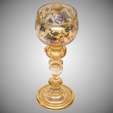Gorgeous Bohemian Roemer Wine Glass