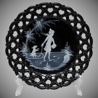 Mary Gregory Plate - Westmoreland Glass