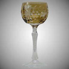 Bohemian Cased Amber Wine Hock