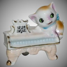 Japan Cat or Kitten on Piano Figurine