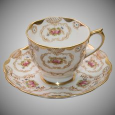 Gorgeous Royal Albert Enamelled Tea Cup and Saucer