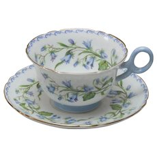 Shelley Tea Cup and Saucer - Harebell