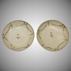 Pair of Small Creamware Dishes