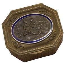 French Trinket Box with Bronze Inlay
