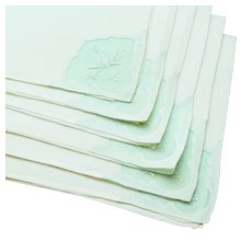 Six Linen Napkins - Mint Green