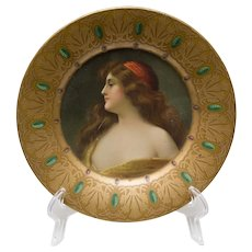 Mucha Royal Saxony Art Plate