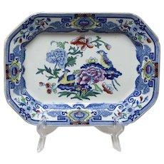 Mason's Ironstone Small Platter Blue Pheasant Pattern